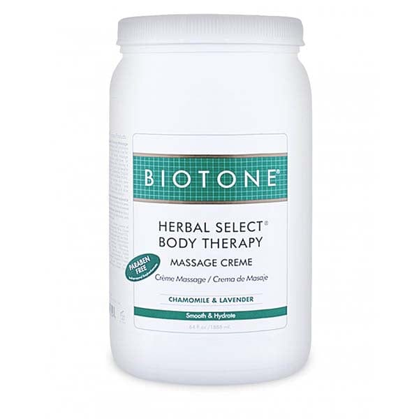 Biotone Herbal Select Body Therapy Massage Creme 1/2 Gallon