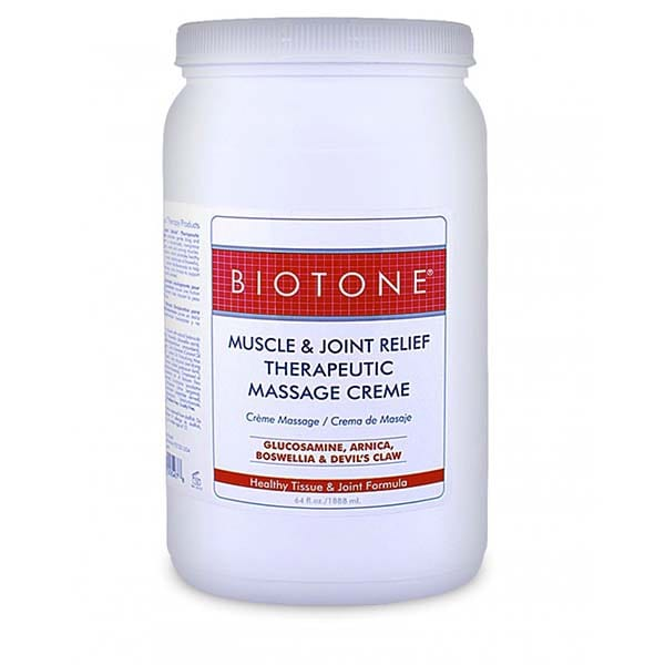 Biotone Muscle & Joint Therapeutic Massage Creme 1/2 Gallon