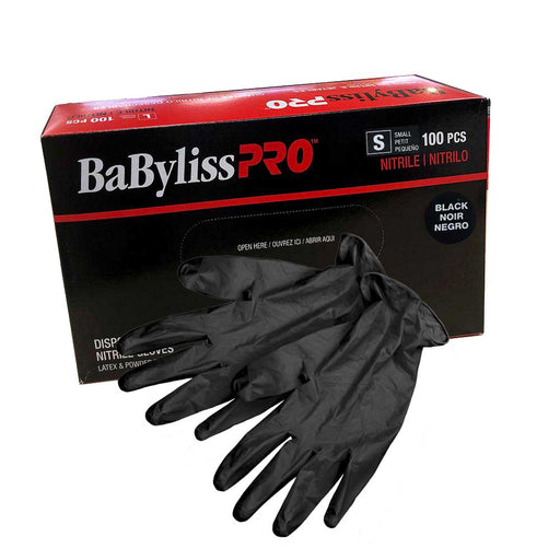 Black Disposable Nitrile Gloves (100 Pieces) Small