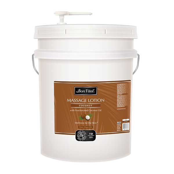 Bon Vital Coconut Massage Lotion 5 Gallon