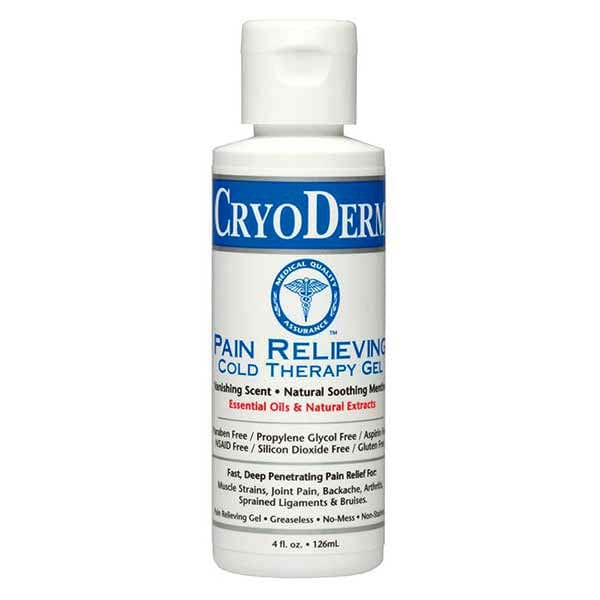 CryoDerm Pain Relieving Cold Therapy 4 Oz Gel