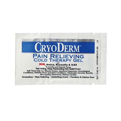 CryoDerm Pain Relieving Cold Therapy 12 Packets Gel