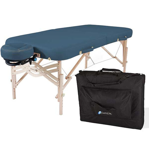 Earthlite Mystic Blue Spirit Portable Massage Table Package