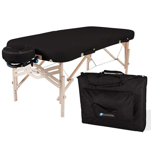 Earthlite Spirit Black Portable Massage Table Package