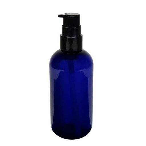 Blue Empty 8oz Spa Bottle with Dispensing Pump