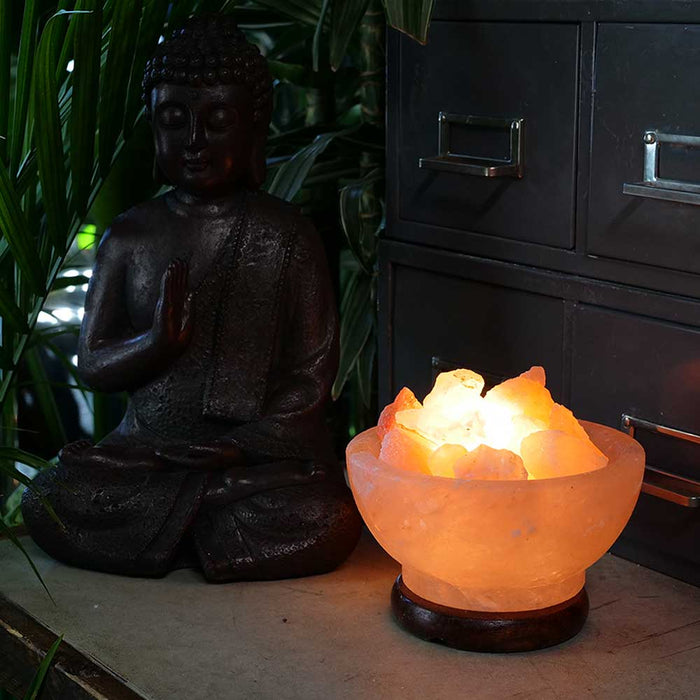 Bowl of Fire Himalayan Salt Lamp