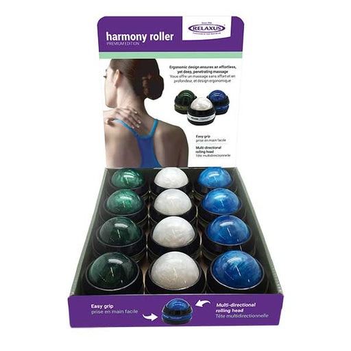 Harmony Handheld Massage Rollers Displayer of 12