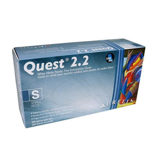 Quest 2.2 Nitrile Powder Free Gloves Small