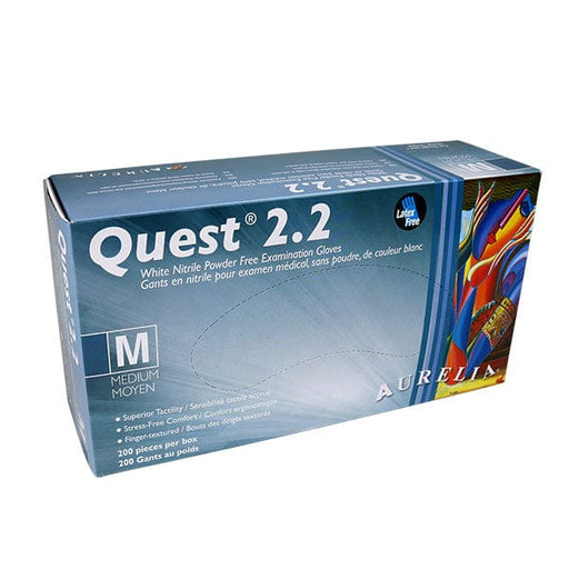 Quest 2.2 Nitrile Powder Free Gloves Medium