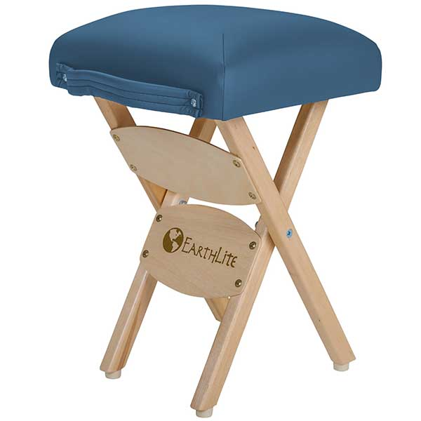 Earthlite Mystic Blue Folding Massage Stool