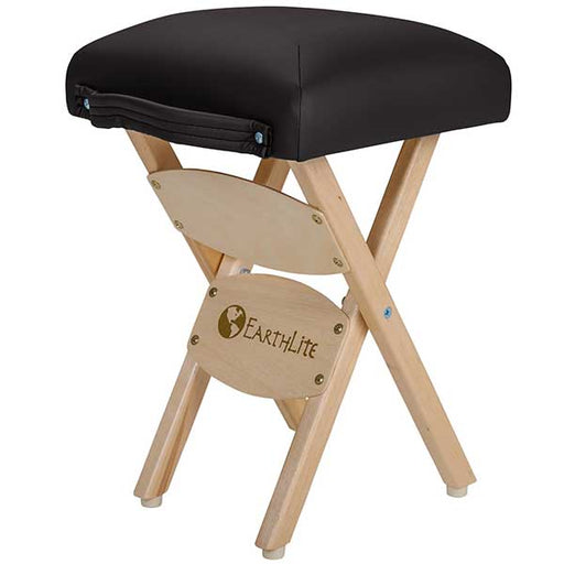 Earthlite Black Folding Massage Stool