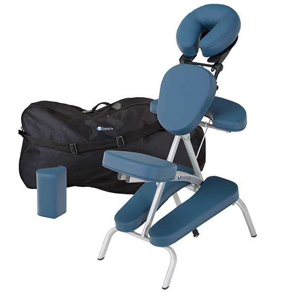 Mystic Blue Earthlite Vortex Portable Massage Chair