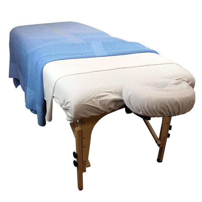 Blue Cotton Weave Massage Table Blanket