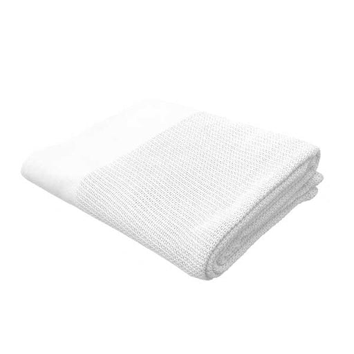 "White Cotton Weave Massage Table Blanket 66"" x 90"""