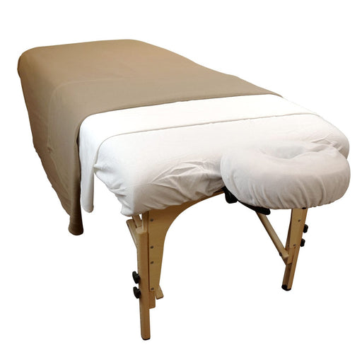 "Taupe Massage Table Fleece Blanket 72"" x 90"""