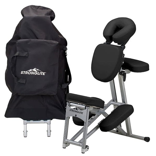 Black Stronglite Ergo Pro II Portable Massage Chair Package