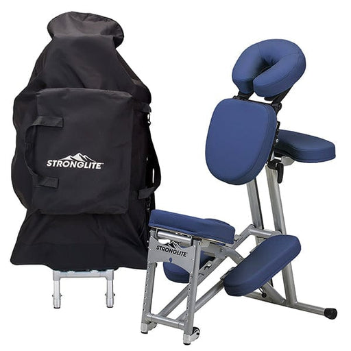 Royal Blue Stronglite Ergo Pro II Portable Massage Chair Package