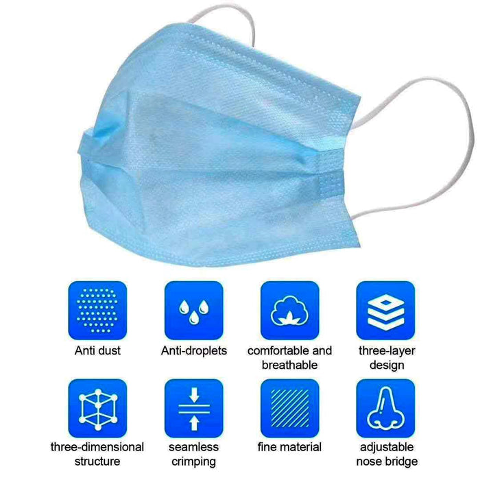 Disposable FFP2 Face Mask with Ear Loops (50 per box)