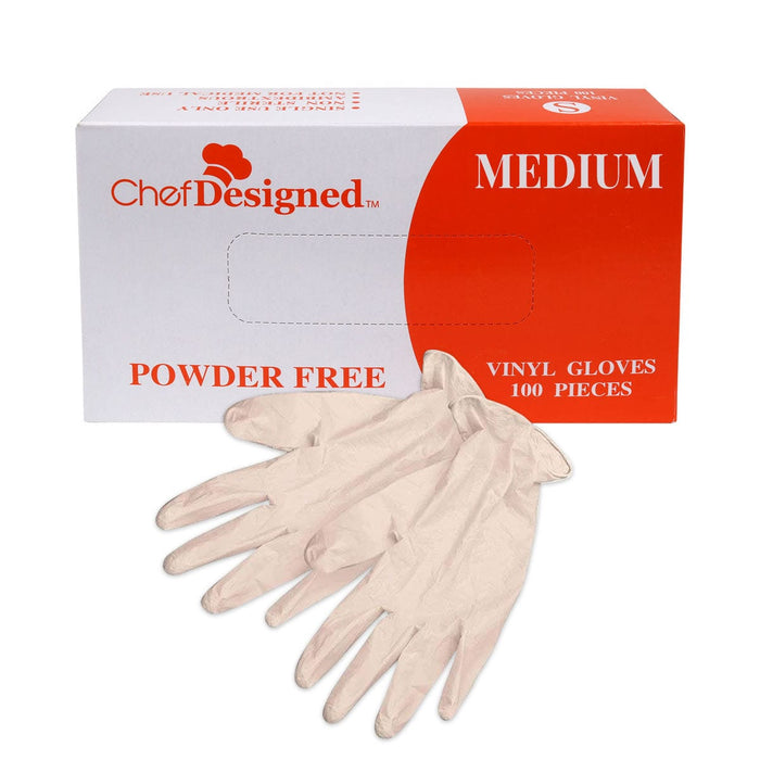 Vinyl Powder Free Disposable Gloves (100 Pieces)