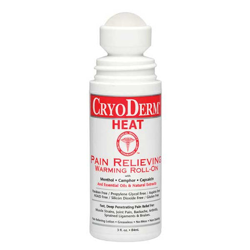 CryoDerm Heat Pain Relieving Warming Lotion 3 Oz Roll On