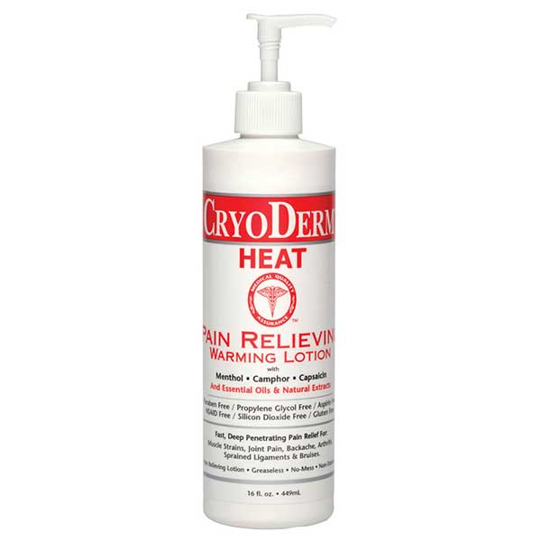CryoDerm Heat Pain Relieving Warming Lotion 16 Oz Lotion