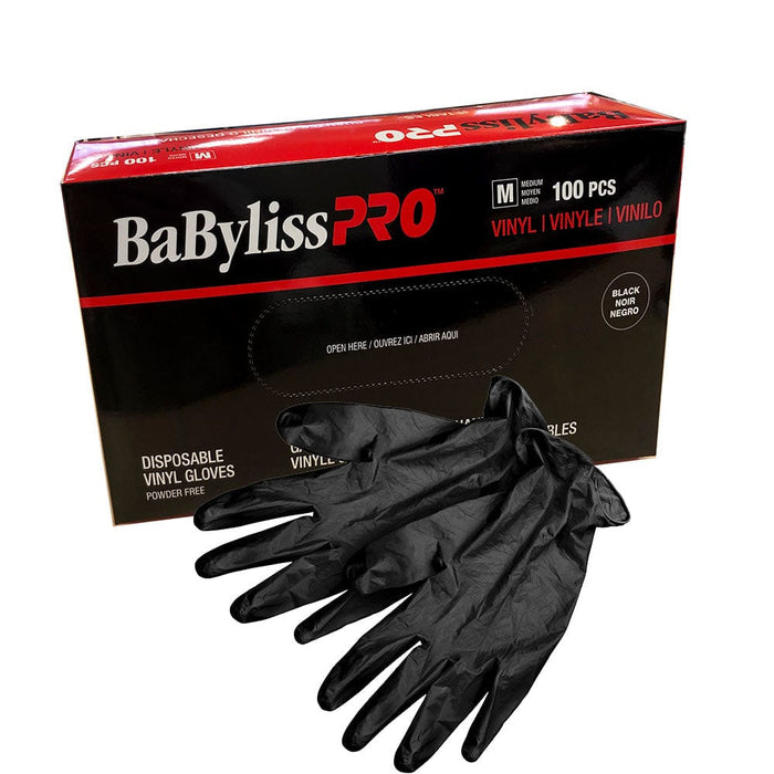 Black Disposable Vinly Gloves (100 Pieces)