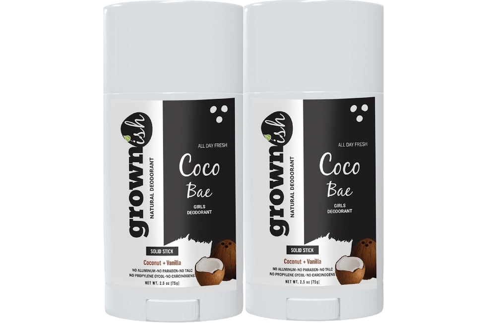 Coconut + Vanilla Aluminum -Free Deodorant for Girls + Women ( CoCo Bae) Natural Deodorant, All Day Protection