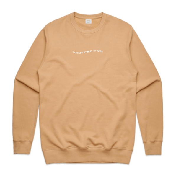 Tan / Small Wave Sweatshirt - Apparel | Cascade Street Studios