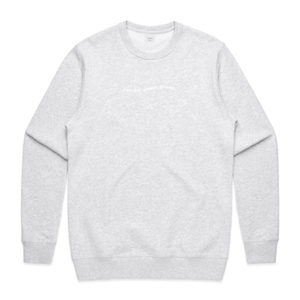 White Marl / Small Wave Sweatshirt - Apparel | Cascade Street Studios