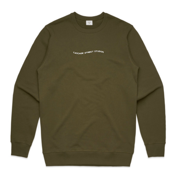 Army / Small Wave Sweatshirt - Apparel | Cascade Street Studios