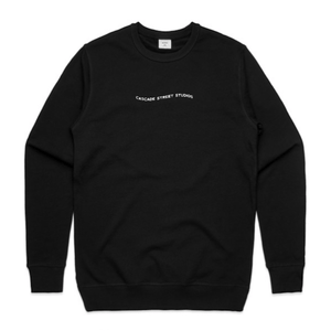 Black / Small Wave Sweatshirt - Apparel | Cascade Street Studios