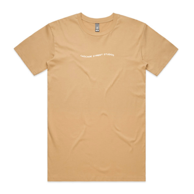 Tan / Small Wave Tee - Apparel | Cascade Street Studios