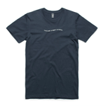 Navy / Small Wave Tee - Apparel | Cascade Street Studios