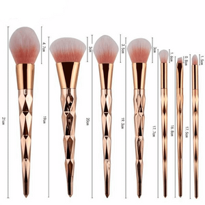 ROSE GOLD DIAMOND BRUSH SET