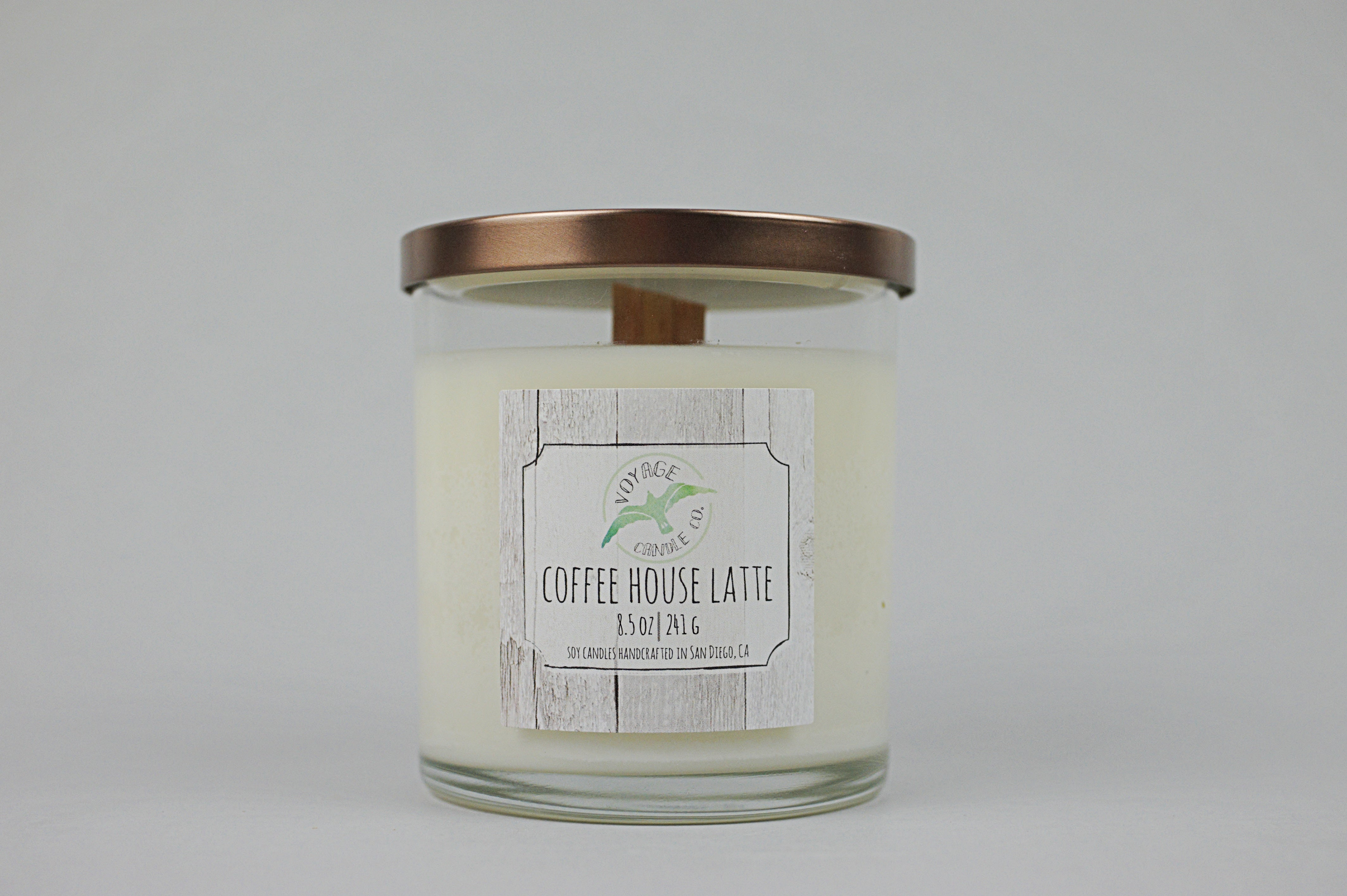Coffee House Latte - Wood Wick - Voyage Candle Co.