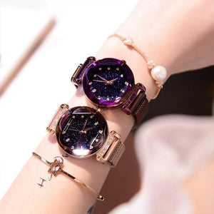2018 Luxury Watches Minimalism Starry Sky Waterproof, Magnet Buckle