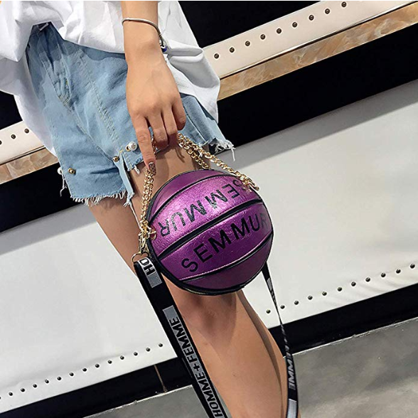 FASHION BASKETBALL SHAPE LUXURY BAG