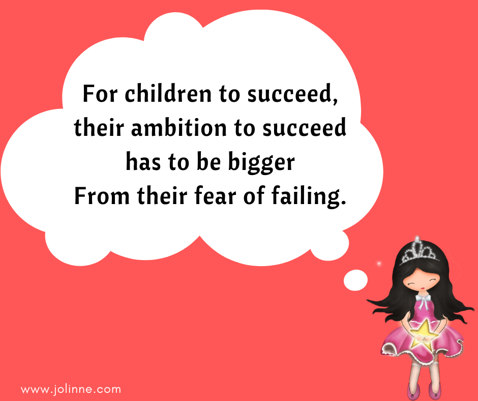 "Growing happy kids tips - Tip #3 ""Failure is not the opposite of success, Is an integral part of it """