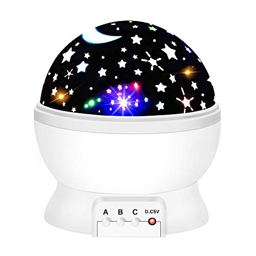 ATOPDREAM Star Night Light Projector for Kids, Star Night Lights for Kids Toys for 2-10 Year Old Boys Birthday Halloween Christmas Gifts for 2-10 Year Old Boys Xmas Stocking Stuffers White TSUKXK07