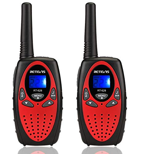 Retevis RT628 Walkie Talkies for KidsToy for 3-14 Years Old Boy and Girls Long Range Kids Walkie Talkies for Birthday Gift (Red, 2 Pack)