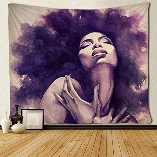 "SARA NELL Tapestry African American Sexy Women Lady Tapestries Wall Art Hippie Bedroom Living Room Dorm Wall Hanging Throw Tablecloth Bedspread(50""¡Á60"