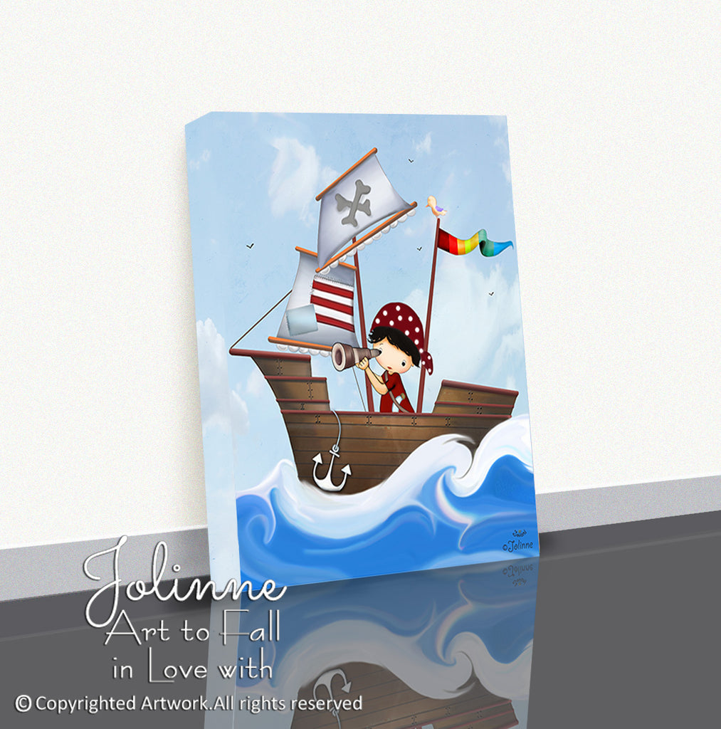 Pirate Boy Canvas Print Toddler Room Decor