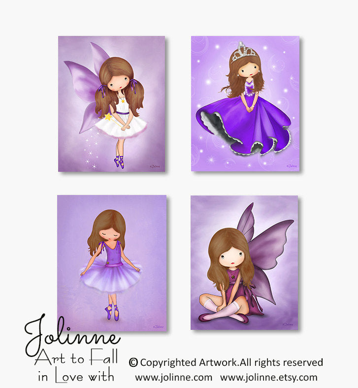 Purple room decor, art for girls room-Jolinne