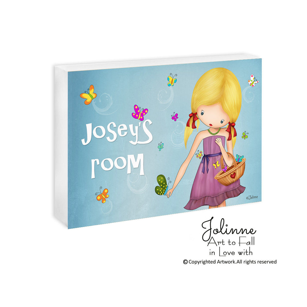 Girls Room Custom Name Turquoise Artwork-Jolinne