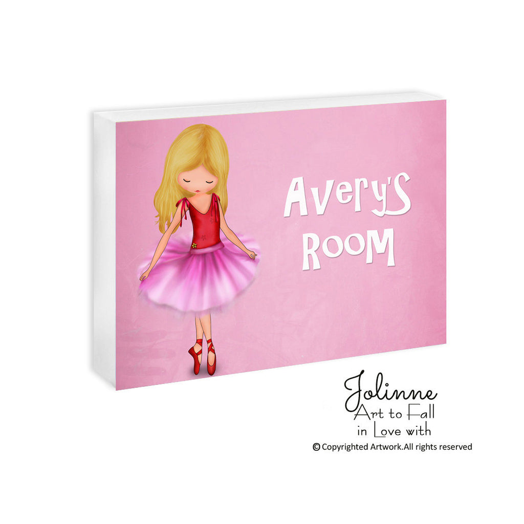 e00075b1c5 Ballet Dancer Pink Door Plaque Custom Name | Jolinne
