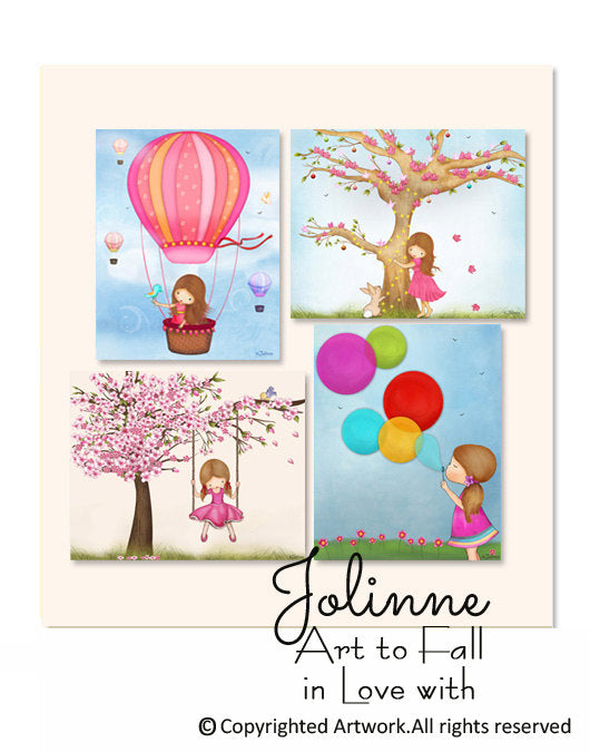 Girls Room Decoration, Kids Wall Art Decor-Jolinne