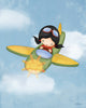 Girl Airplane Wall Art Print-Jolinne