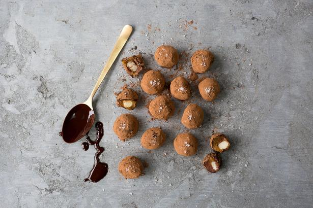 Macadamia and Salted Caramel Easter Egg Truffles
