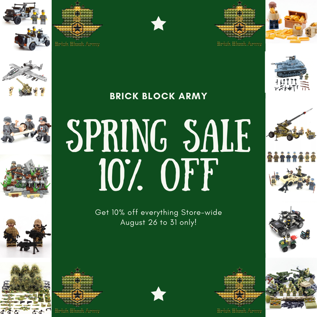 Brick Block Army Spring Sale