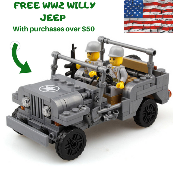 compatible lego Willy MB Jeep freebie